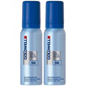 Goldwell Color Styling Mousse 5N light brown 2x75ml Duo i gruppen Hårvård / Färg & toning hos ginos.se (GWCSM1122)