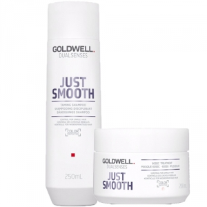 Goldwell Dualsenses Just Smooth Shampoo 250ml + 60sec Treatment Masque 200ml Duo i gruppen Kampanjer / Duo-pack / Goldwell Duo-pack hos ginos.se (GWDS1117)