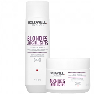 Goldwell Dualsenses Blondes & Highlights Anti-Yellow Duo Shampoo + 60sec Treatment i gruppen Kampanjer / Duo-pack / Goldwell Duo-pack hos ginos.se (GWDS1121)