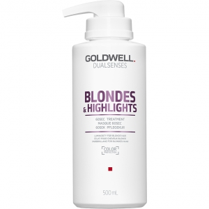 Goldwell Dualsenses Blondes & Highlights 60sec Treatment 500ml i gruppen Hårvård / Styling attribut / Färgskydd hos ginos.se (GoldwellBlondesMask500)