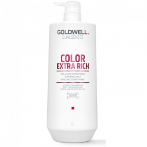 Goldwell Dualsenses Color Extra Rich Conditioner 1000ml i gruppen Hårvård / Balsam / Färgat & slingat hår hos ginos.se (GoldwellExRichCond1000)