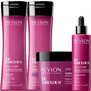 Revlon Be Fabulous Normal/Thick Hair Collection i gruppen Hårvård / Special / Återfuktande hos ginos.se (REVBF1121)