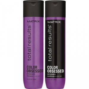 Matrix Total Results Color Obsessed Duo 2x300ml i gruppen Hårvård / Balsam / Färgat & slingat hår hos ginos.se (colorobsessed-duo)