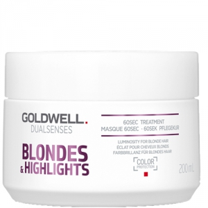 Goldwell Dualsenses Blondes & Highlights 60sec Treatment Masque 200ml i gruppen Hårvård / UV Skydd / Inpackning hos ginos.se (dual-blond-1001-005)