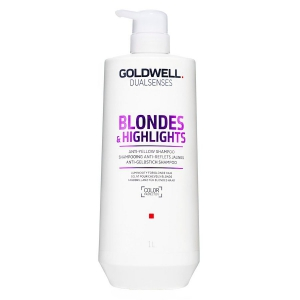 Goldwell Dualsenses Blondes & Highlights Anti-Yellow Shampoo 1000 ml i gruppen Hårvård / Styling attribut / Färgskydd hos ginos.se (goldwbklondshampoo1500)