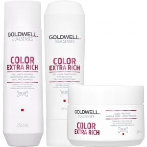 Goldwell Dualsenses Color Extra Rich Brilliance Shampoo & Balsam & Treatment