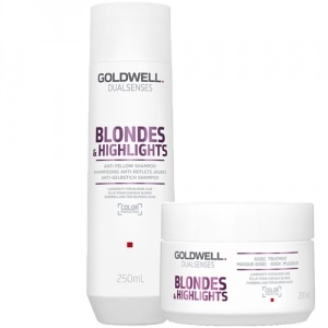 Goldwell Dualsenses Blondes & Highlights Anti-Yellow Shampoo & 60sec Treatment