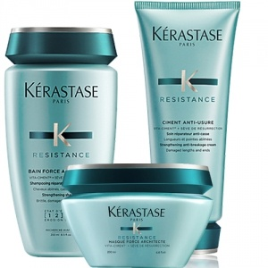 Kérastase Resistance Force Architecte Shampoo 250ml + Masque 200ml + Ciment Termique 150ml Trio Paket