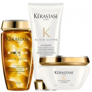 Kérastase Elixir Ultime Shampoo, Conditioner & Masque Trio