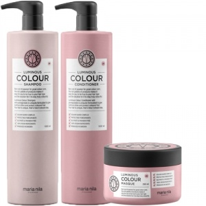Maria Nila Care Luminous Colour Shampoo 1000ml + Conditioner 1000ml + Masque 250ml