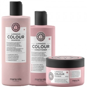 Maria Nila Care Luminous Colour Shampoo 350ml + Conditioner 300ml + Masque 250ml Trio