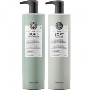 Maria Nila True Soft Shampoo & Conditioner Duo 2x1000ml i gruppen Kampanjer / Duo-pack / Maria Nila Duo-Pack hos ginos.se (mn-10068)